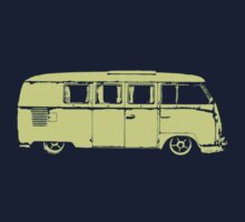 vw camper split kombi bus car t shirt by lowgrader