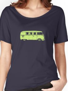 vw camper split kombi bus car t shirt Women's Relaxed Fit T-Shirt