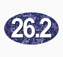 26.2 Oval Sticker - Mosaic Purple by robotface