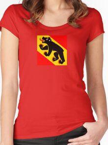 Flag of Bern Canton Women's Fitted Scoop T-Shirt