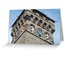 Clock tower at Cardiff Castle Greeting Card