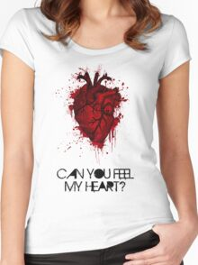 Can you feel my heart? Women's Fitted Scoop T-Shirt