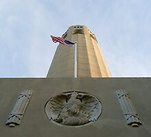 coit tower low angle by photoeverywhere