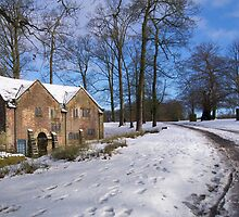 Dunham Massey in the Snow by dilyst
