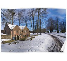 Dunham Massey in the Snow Poster