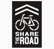 Share the Road Sticker - Black Version by robotface