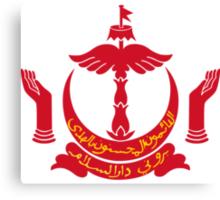 Emblem of Brunei  Canvas Print