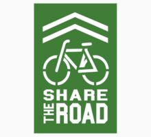 Share the Road Sticker - Green Version by robotface