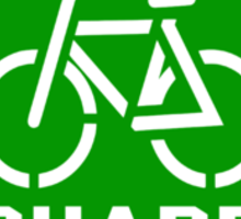 Share the Road Sticker - Green Version Sticker