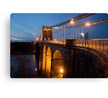 Menai Bridge Dusk Canvas Print