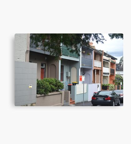 Glebe Streetscape Canvas Print