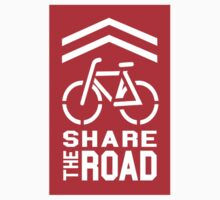 Share the Road Sticker - Red Version by robotface