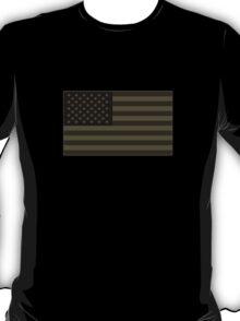 Subdued Olive Drab Military US Flag T-Shirt