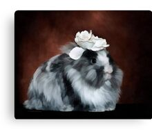 Rose rabbit Canvas Print