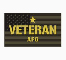VETERAN - Afghanistan - I Served Sticker by robotface