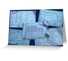 Blueprints Greeting Card