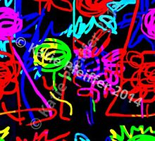 Abstract Pop Art Energy  of Love  by Kater