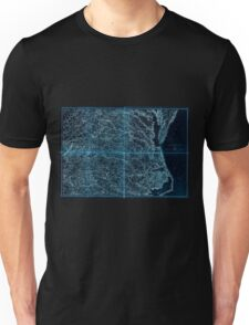 Civil War Maps 2136 Map of Virginia and North Carolina from the coast to the Blue Ridge Inverted Unisex T-Shirt