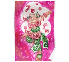 Peppermint Candy Cane Poster