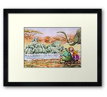 Trying to focus Framed Print