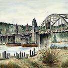Siuslaw River Bridge by Mae Pilon