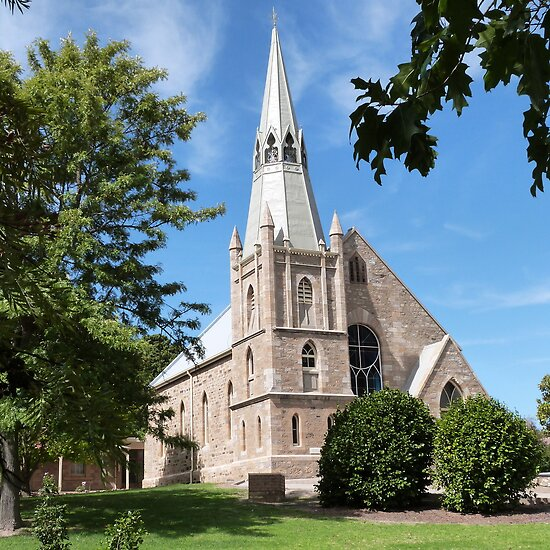 St. Paul's Lutheran Church, Hahndorf, Adelaide Hills. S. Aust. by Rita Blom