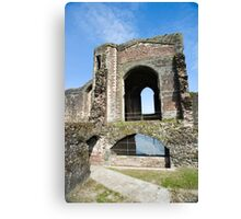Newport castle ruins Canvas Print