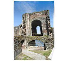 Newport castle ruins Poster