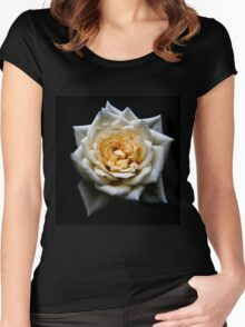 Heart of a white rose Women's Fitted Scoop T-Shirt