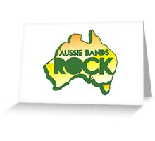 Aussie bands ROCK! with map of Australia Greeting Card