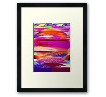 Color Burst Abstract Framed Print