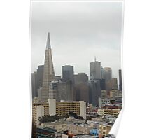 rainy day in san francisco Poster