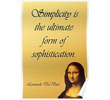 DaVinci Quote Poster