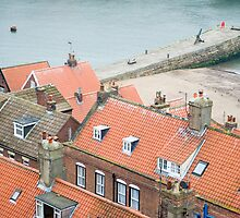 View at roofs and pier by photoeverywhere