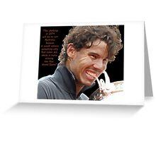 Rafa biting Cup Greeting Card