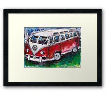 Volkswagen Red Bus Framed Print