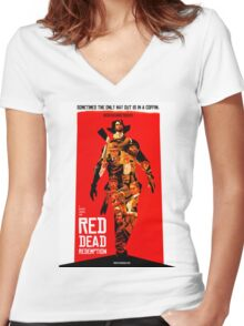 red dead redemption  Women's Fitted V-Neck T-Shirt