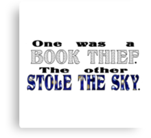 Book Thief/Sky Stealer Canvas Print
