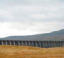 Panoramic view of the Ribblehead Viaduct by photoeverywhere