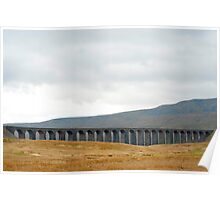 Panoramic view of the Ribblehead Viaduct Poster