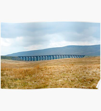 Landscape view of Ribblehead viaduct Poster