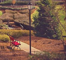 The Red Bench  by Jessica Britton
