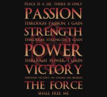 Sith Motto  by PinkFoxDesigns