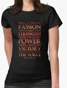 Sith Motto  Womens Fitted T-Shirt