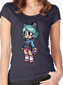 Ramona Flowers 8-bit art Women's Fitted Scoop T-Shirt