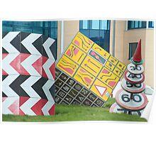 Roadsign sculptures Splott, Cardiff Poster