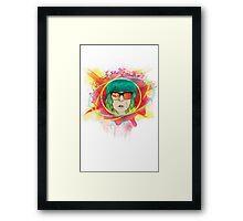 Psychedelic Girl Framed Print