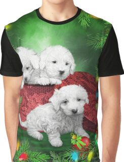 Puppies For Christmas Graphic T-Shirt
