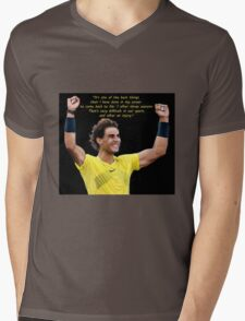 Happy Rafa Mens V-Neck T-Shirt