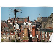 Whitby roofscape Poster